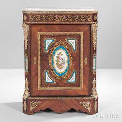 Napoleon III Kingwood Marble-top Porcelain-mounted Meuble d'Appui