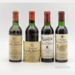 Mixed Left Bank Demis, 4 demi bottles