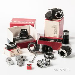 Leicaflex Camera and Associated Leica Accessories