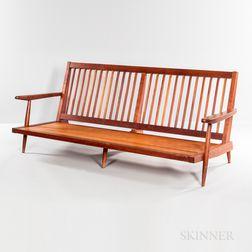 George Nakashima (1905-1990) Cushion Sofa with Arms