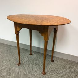 Eldred Wheeler Queen Anne-style Tiger Maple Tea Table