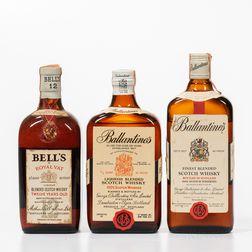 Mixed Scotch, 2 4/5 quart bottles 1 750ml bottle