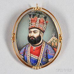 "European School, 18th Century      Portrait Miniature of ""Nadir Shah of Persia."""