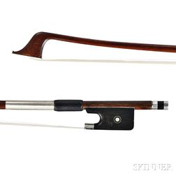 French Nickel-mounted Violoncello Bow, Louis Morizot