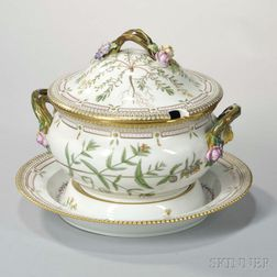 "Royal Copenhagen ""Flora Danica"" Porcelain Tureen and Stand"