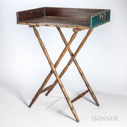 Copper Bar Tray on Stand