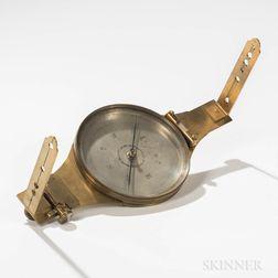 Unusual Julius Hanks Vernier Surveyor's Compasses