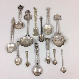 Group of Silver Spoons