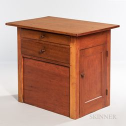 Shaker Pine, Maple, and Cherry Sewing Cabinet