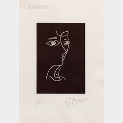 Georges Braque (French, 1882-1963)      Untitled (Profile)