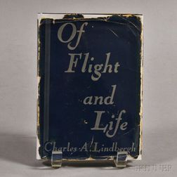 Autographed Charles Lindbergh's Of Flight and Life