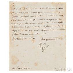 Napoleon Bonaparte I (1769-1821) Letter Signed, 18 November 1811.
