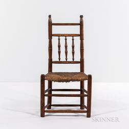 Early Turned Maple Side Chair