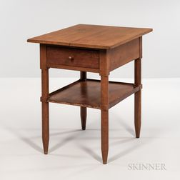 Shaker Cherry Stand with Single Drawer and Shelf