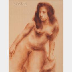 American School, 20th Century      Standing Nude, Three-quarter Length.