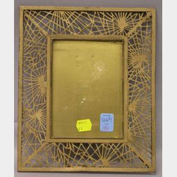 Tiffany Studios Gilt Bronze Pine Needle Pattern Picture Frame.