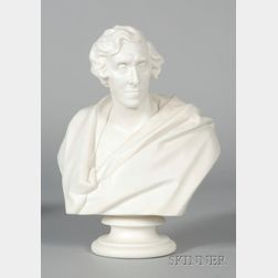 Minton Parian Bust of Richard Green