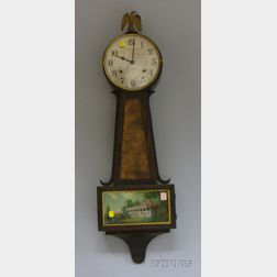 Mahogany Banjo Clock by Gilbert