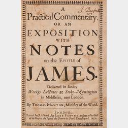 (Stoughton, William (1631-1701)), His copy