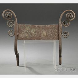 Wrought Iron Bootscraper with Applied Scroll Ornament
