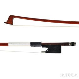 French Nickel-mounted Violin Bow, Morizot Frères
