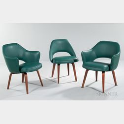 Three Mid-Century Modern Armchairs