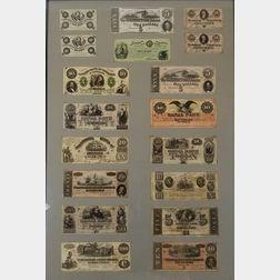 Framed Group of Civil War Era Notes
