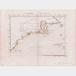 North America, Northeast Coast. Girolamo Ruscelli (1518-1566) Tierra Nueva.