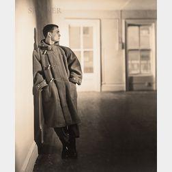 George Platt Lynes (American, 1907-1955)      Chuck Howard Modeling a Winter Coat