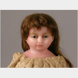 Large Peck Poured Wax Doll