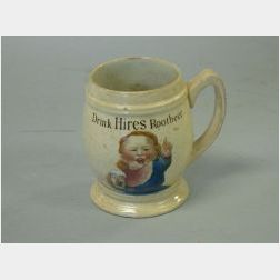 """Villeroy & Boch """"Drink Hires Rootbeer"""" Colored Transfer Decorated Stoneware Mug"""