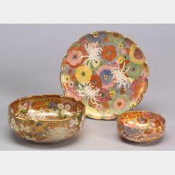 Three Pieces of Satsuma Pottery