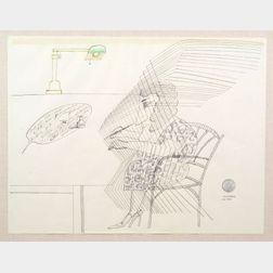 Saul Steinberg (American, 1914-1999)    Ariadne