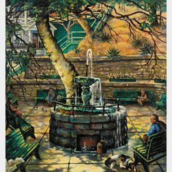 Marie (Bruner) Haines Burt (American, 1881-1979)      Fountain Park