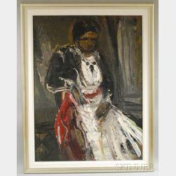 Jonah Kinigstein (American, b. 1923)      Portrait of a Seated Gypsy.