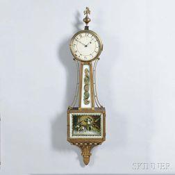 "Mahogany Gilt-front Patent Timepiece or ""Banjo"" Clock"