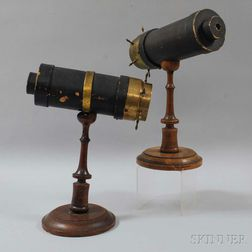 Two C.G. Bush & Co. Kaleidoscopes on Stands