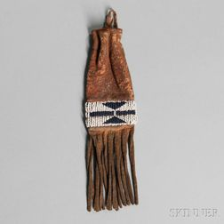 Cheyenne Beaded Hide Paint Bag