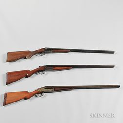 Three Double-barrel Shotguns