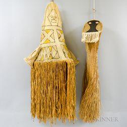 Two Amazon Indian Mask/Headdresses