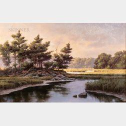 Donald Demers (American, b. 1956)      Morning Sun, Brave Boat Harbor, York, Maine