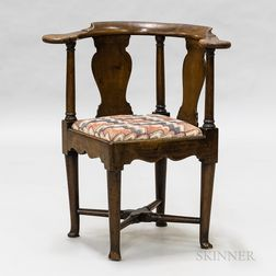 Queen Anne Mahogany Round-about Chair