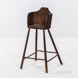 Primitive Pine High Chair