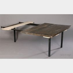 Eero Saarinen Attributed Oak and Black-finished Steel Table