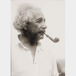 Lotte Jacobi (American, 1896-1990)      Albert Einstein