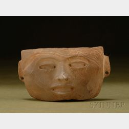 Pre-Columbian Carved Stone Head