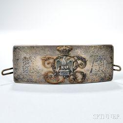 Silver Royal Dragoons Cartridge Box