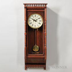 Waterbury Regulator No. 4 Walnut Wall Clock