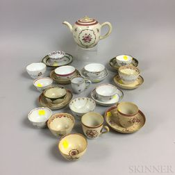 Twenty-nine Pieces of Mostly Chinese Export Porcelain Teaware