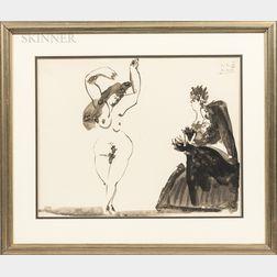 After Pablo Picasso (Spanish, 1881-1973)      Danseuse Espagnole et la Duègne